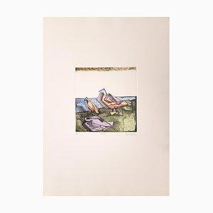 Birds - Original Etching by Adam Moussa - 1973 1973