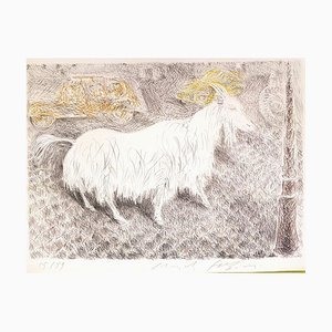 Lithographie The Goat - Original par Pericle Fazzini - 1971 1971