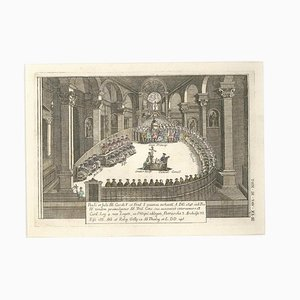 The Holy Council - Original Color Etching by G. Pivati - 1746-1751 1746-1751