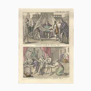 Hochzeitszeremonie und Geburt unter den Mexikanern - von G. Pivati - 1746-1751 1746-1751