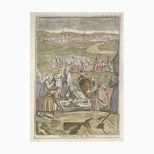 Moscovite Funeral Ceremony - von G. Pivati - 1746-1751 1746-1751