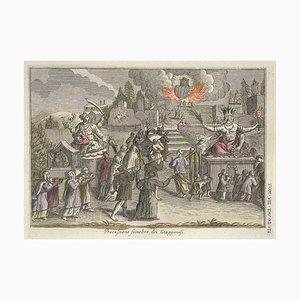 Japanische Trauerprozession - von G. Pivati - 1746-1751 1746-1751