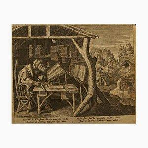 Evagrius - Original Radierung nach Raphael Sadeler - um 1600 1660 ca.