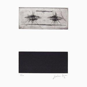 Dreiteilige Komposition - Original Radierung von Cesare Peverelli - 1973 1973