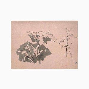 Leak Sketches - Original Bleistiftzeichnung von Ernest Rouart - 1890er 1890er