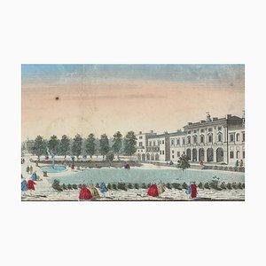 Somerset Royal Palace View - Original Etching 18° Century 18th Century