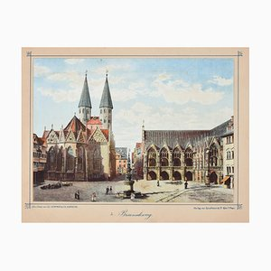 Braunschweig - Original Lithograph Mid 19° Century Mid 19th Century