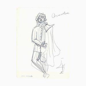 Sketch for a Prince Kostüm - Original China Tinte auf Papier von A. Matheos Mid 20th Century