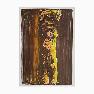 Brown Nude - Original Lithograph by Vittorio Tavernari - 1967 1967