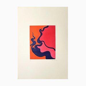 Untitled / Red Hell - Original Radierung von Luigi Boille - 1970 1970