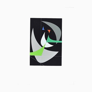 Crescent Moon - Original Screen Print by Luigi Veronesi - 1970/76 1970/76
