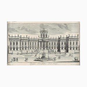 Haufs Zweytes Konigliches Lust - Gravure à l'Eau-Forte d'Origine Paul Decker - Début 1700 Début 18ème Siècle