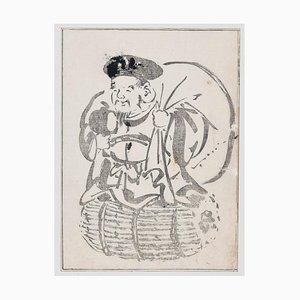 Japanese Man - Holzschnitt von Takibana Morikuni - 1749 1749