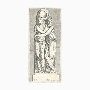 Sujets d'histoire et de Mythologie - Original Etching by P.-L. Parizeau - 1771 1771