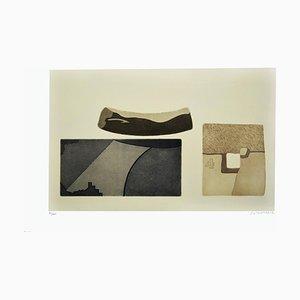 Shapes - Original Radierung von Giò Pomodoro - 1980er 1980s