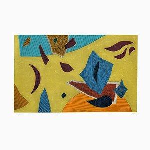 Surreal Composition - Original Radierung von Henry Goetz - 1970er 1980