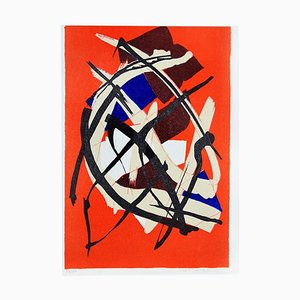 Litografía Untitled Composition - Original de Luri de Luigi Montanarini - 1976 1976