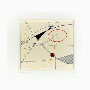 Composición sin título - Serigrafía original de Luigi Veronesi - 1976 1976