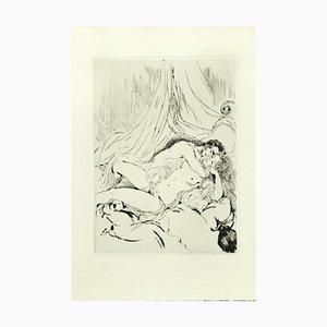 Sexual Encounter - Gravure à l'Eau-Forte ad originale par A. Doré - Fin 1900 Fin 1900