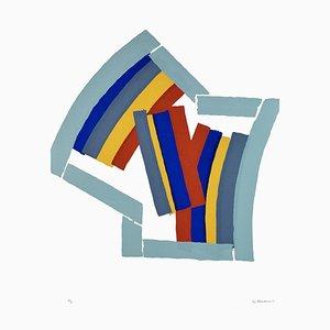 Color Lines - Original Screen Print by Luigi Montanarini - 1970s 1970s