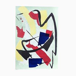 Abstract Composition - Original Screen Print by Luigi Montanarini - 1970s 1970s