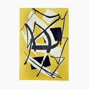 Ocker Composition - Original Siebdruck von Luigi Montanarini - 1970s 1970s