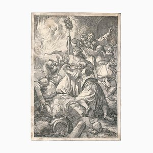 Les Martyrs Chrétiens - Original Holzschnitt von J. Nepomuk Geier Late 1800