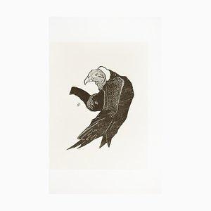 Der Geier - Original Holzschnitt von Unbekannter Französischer Künstler Früh 1900 1900