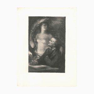 The Muse - Original Lithografie von Henri Fantin-Latour - 1886 1886