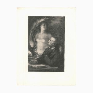 The Muse - Original Lithograph by Henri Fantin-Latour - 1886 1886