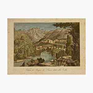 Gravure à l'Eau-Forte Antique par A. Zuccagni-Orlandini-1845 1845