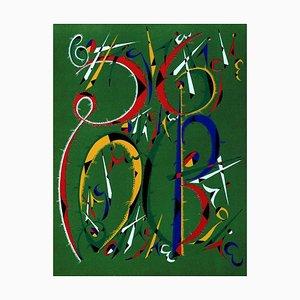 Letra B - Litografía original de Raphael Alberti - 1972 1972