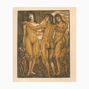 Les Femmes de ce Temps - Original Etching by Louis Jou - 1925 1925