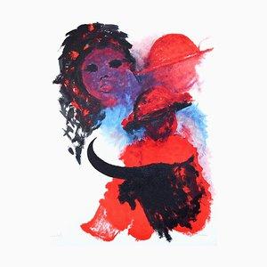 The Spanish Woman - Original Lithograph by José Guevara - 1990s 1990s