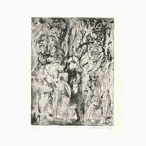Composition - Original Etching by I. Celnikier - Late 20th Century Late 20th Century