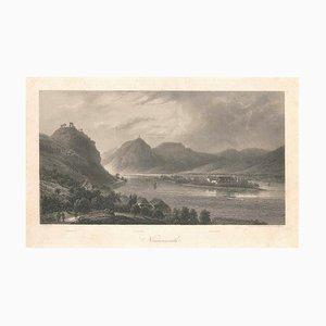 Nonnenwerth - Original Lithographie nach E. Emminger - 1850er 1850er