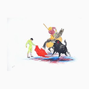 Bullfighter - Original Lithograph by José Guevara - 1990s 1990s