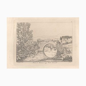 Ponte di Mammea (today Ponte Mammolo) - Original Etching by A. Acquaroni - 1836 1836