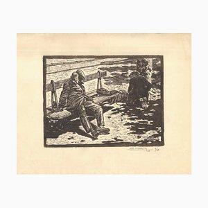 Ohne Titel - Original Holzschnitt von Simon Martin - 1945 1945