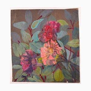 Flowers - Original Ölgemälde von Jane Levy - Mid 1900 1900