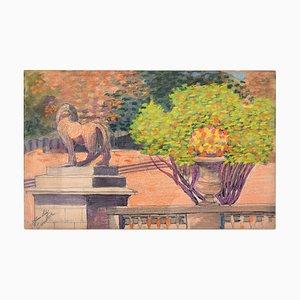 Dans Le Jardin - Original Pastell auf Papier von Jane Levy - 1912 1912