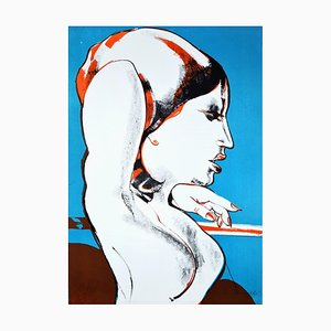 The Diva - Original Lithograph by Fernando Farulli - 1970s 1970
