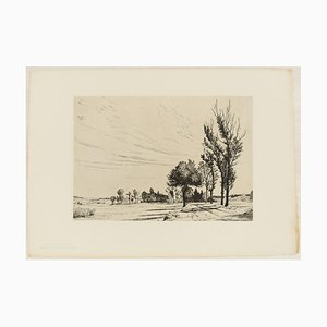 Oberbayrische Landstrasse - Original Etching by H. Reifferscheid - 1904 1904