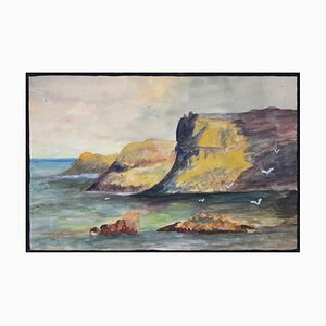 Marine - Original Tempera on Paper by Lucie Navier - 1927 1927