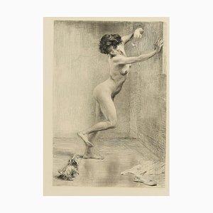 Das geneckte Hündchen - Original Radierung von K. Koepping - 1904/5 1904/5