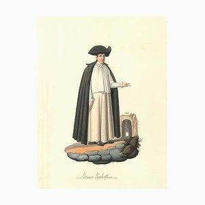 Monaco Rochettino - Aquarelle par M. De Vito - 1820 ca. 1820 ca