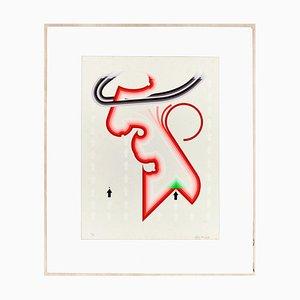 Untitled - Original Siebdruck von Giorgio Bompadre - 1969 1969