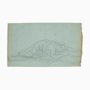 Woman - Pencil Drawing - Early 20th Century Early 20th Century