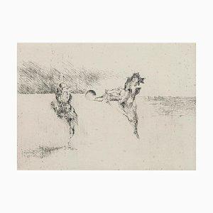 Patinage - Original Etching by Edo Janich - 1971 1971