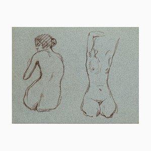 Nude Women - Pastel Drawing - Mid 20th Century Mid 20th Century